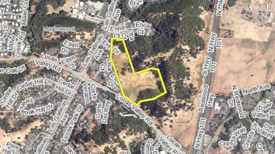 Arial view of Talus Reserve property
