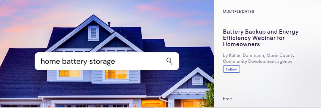 Home Battery Storage Webinar