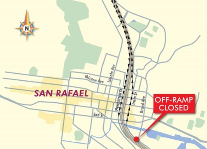 CalTrans San Rafael Exit Closure