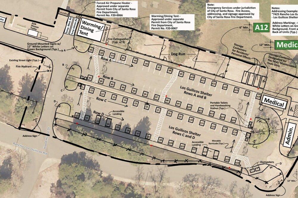 Sonoma Shelter Village Site Plan