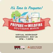 A flyer provides details for the fire preparedness workshop