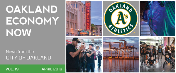 Oakland Economy Now April Newsletter Masthead