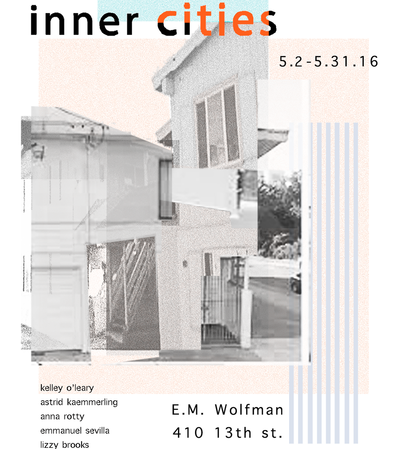 Inner Cities Gallery Exhibit, May 2 to May 31 at EM Wolfman Bookstore