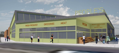people's Community Market architectural drawing of new store