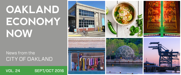 Oakland Economy Now Masthead September/October 2016 news from Oakland