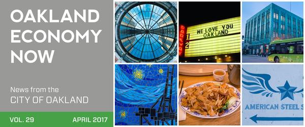 Oakland Economy NOw Masthead volume 29 April 2017