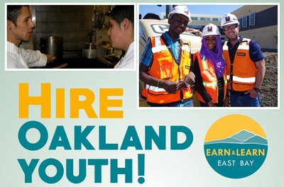 Earn and Learn youth hiring program flyer