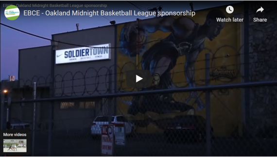 Oakland midnight basketball video