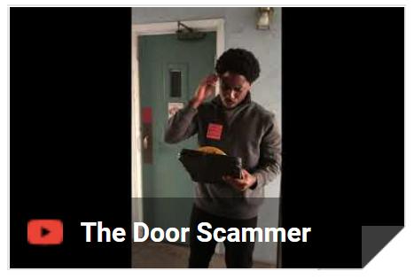 Door Scammer video