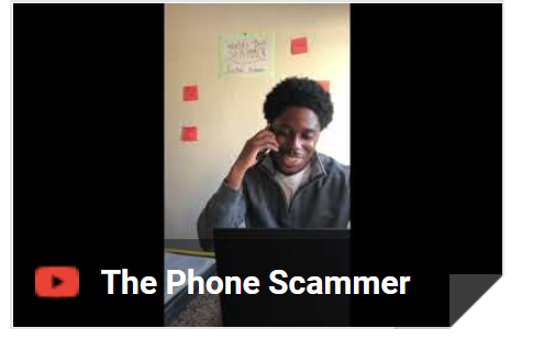 Phone scammer video