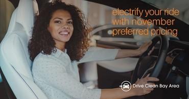 Woman driving an EV
