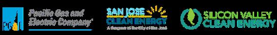 PG&E, SJCE & SVCE logos