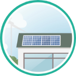Solar Panels on Roof Icon