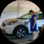 Woman Charging Car