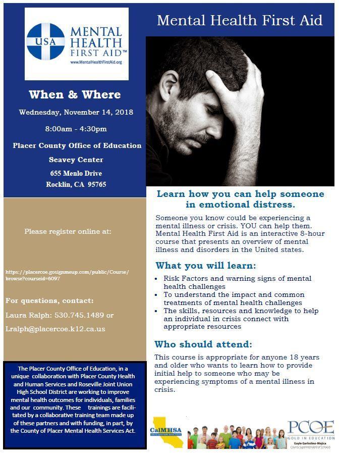 Mental Health First Aid Free Certification Training