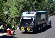 Photo of of trash truck.