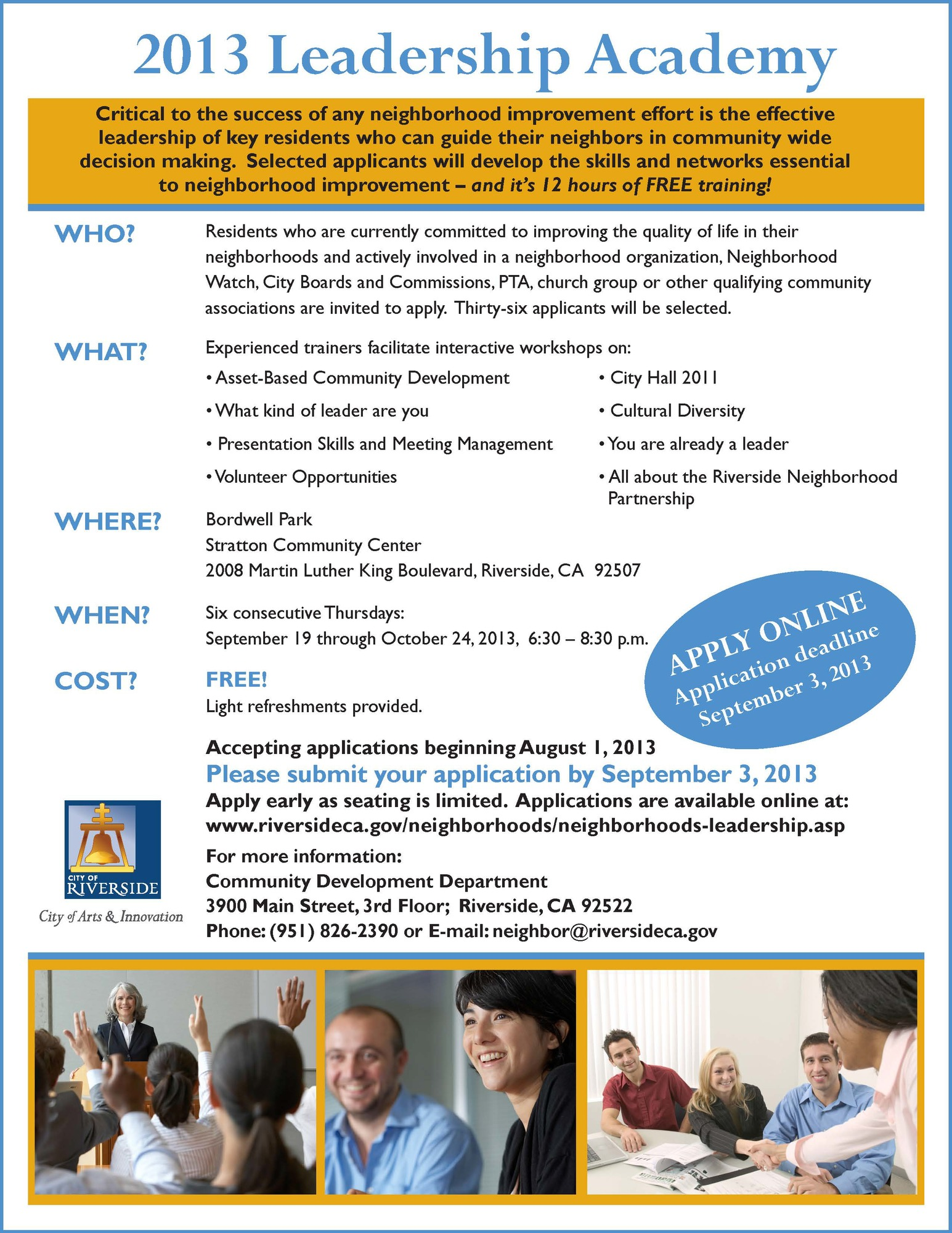 2013 Riverside Neighborhood Partnership Leadership Academy