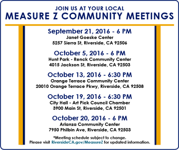 Measure Z Community Meetings