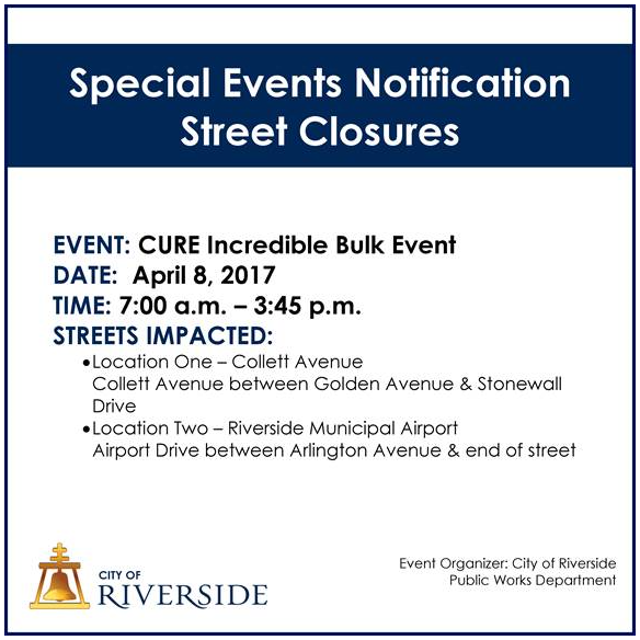 CURE Street Closures