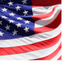 A portion of the American flag.