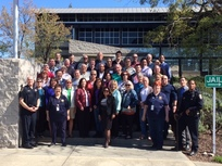 group of citizens police academy in front of pd