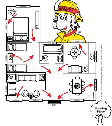 Fire Escape Plan Grid