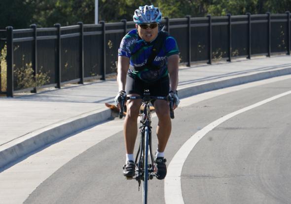Bike rider in Roseville.