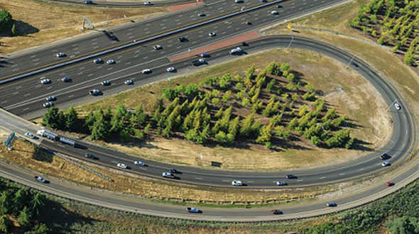 Arial shot of the Interstate 80 / Highway 65 interchange, Courtesy of PCTPA