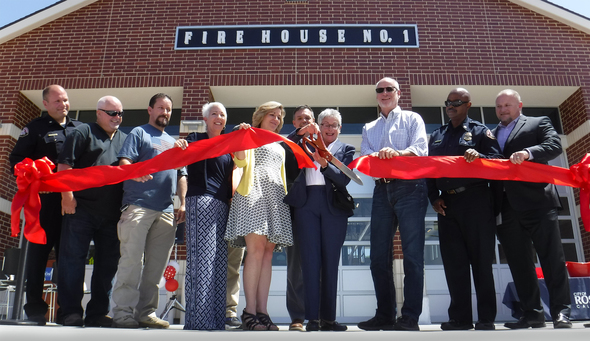 Ribbon Cutting on Oak Street Parking Garage and Fire Station 1, 6.28.18, 2000 x 1156 px