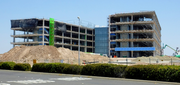 Construction on the Advantist Health building, July 2, 2018,  2000 x 919 px