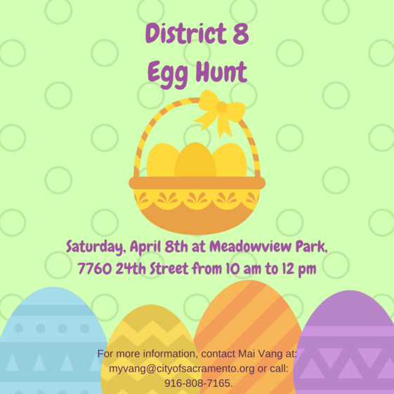 District 8 Egg Hunt Flyer