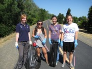 Clean-up volunteers