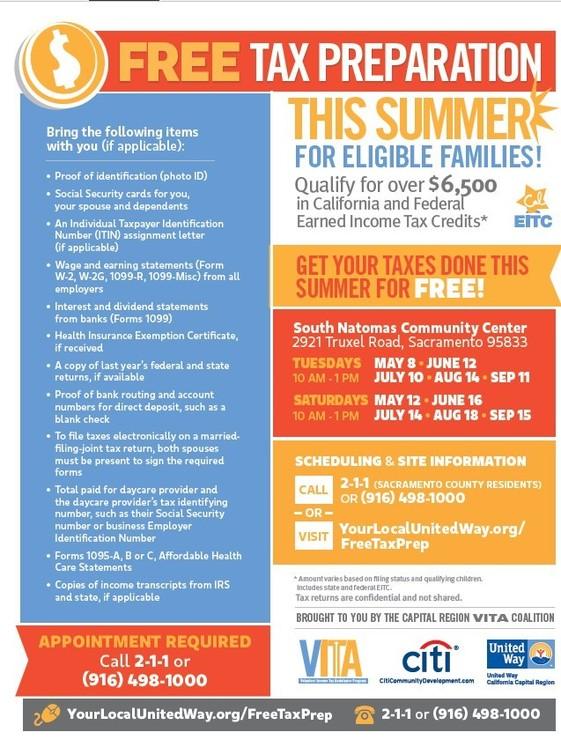 Summer VITA Flyer