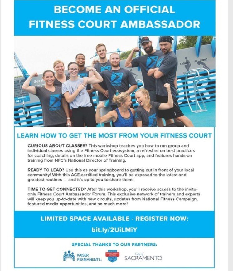 Fitness Court Ambassador Flyer