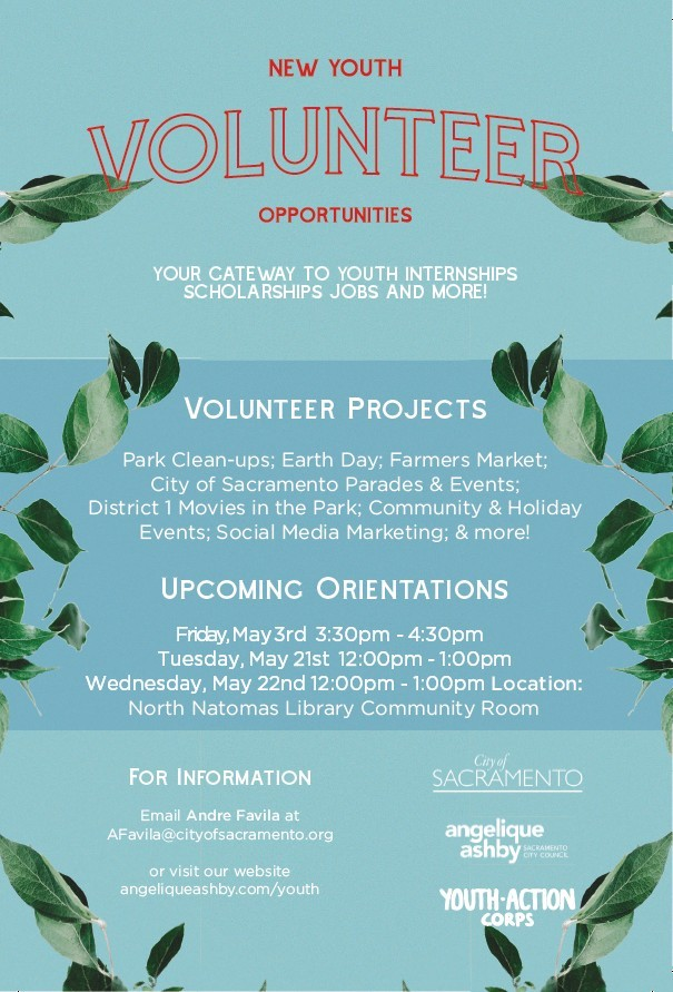 Youth Action Corps flyer