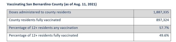 Vaccine Table Aug. 13