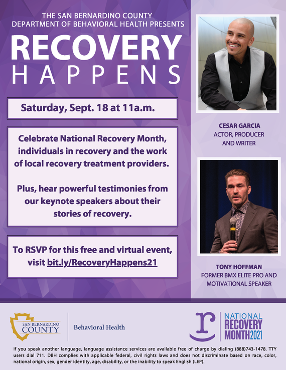 recovery happens flyer