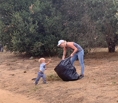 Fallbrook families get active while helping the environment thrive