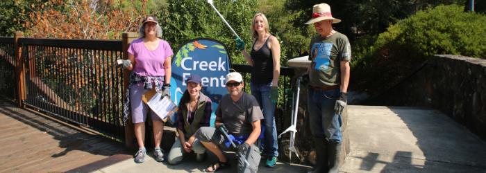 Creek Clean-up Volunteers