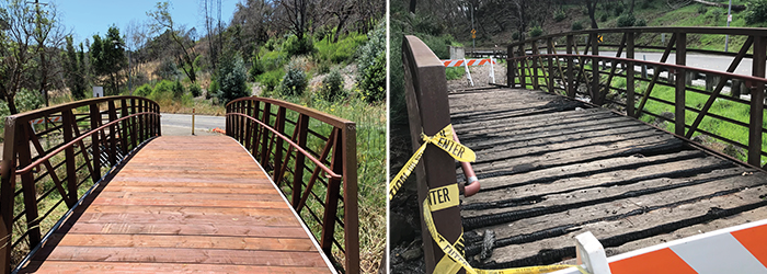 Pedestrian Bridge Before and After