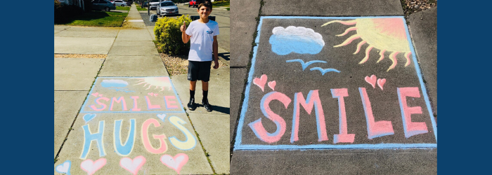Smile Chalk Art