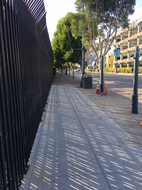 sidewalk reopened