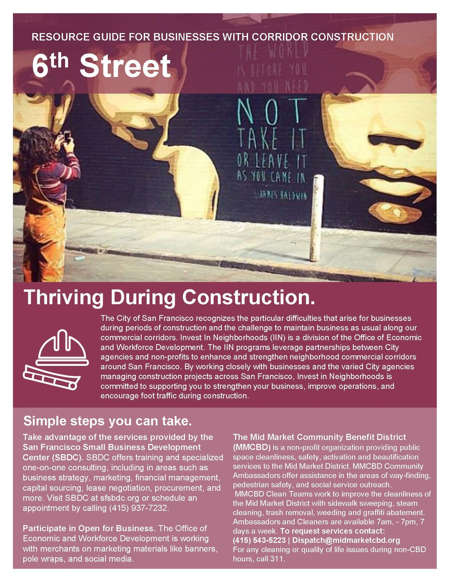 6th Street Construction Mitigation information 1