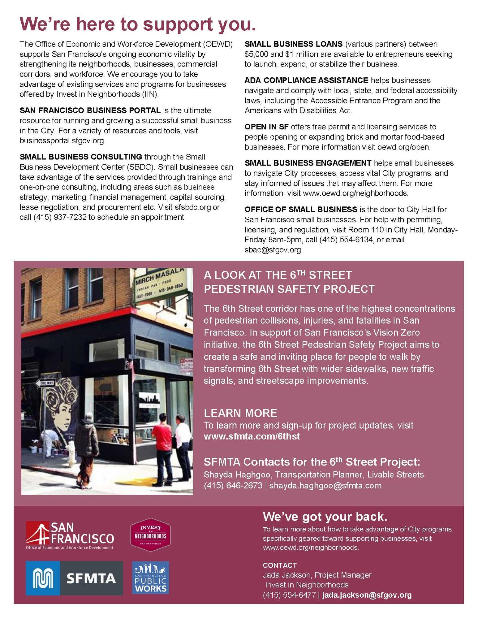 6th Street Construction Mitigation information 2