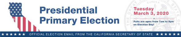 March 3, 2020 Election Banner