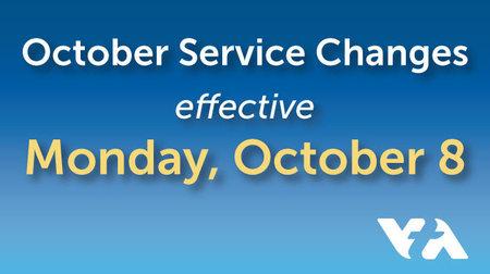 october service changes