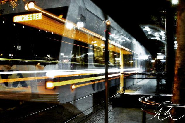 artsy train photo