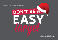 holiday don't be an easy target
