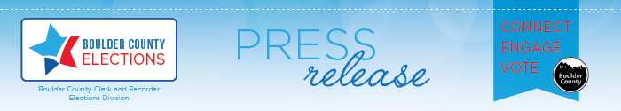 Boulder County Elections Division Press Release