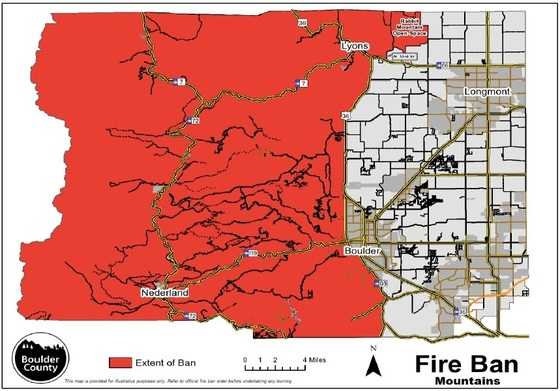 Boulder County Fire Ban Map